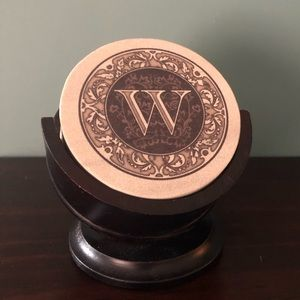 New Thirstystone monogrammed coasters with stand